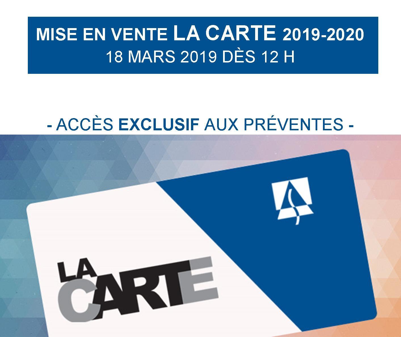 Mise en vente | La cARTe 2019-2020