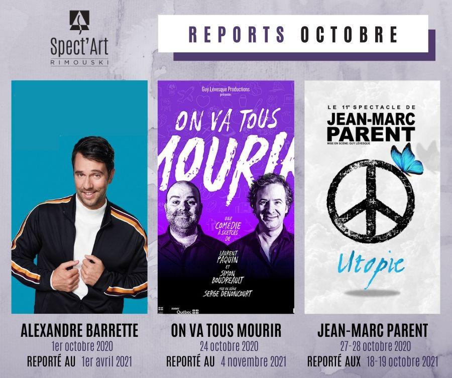 Reports du mois d'octobre